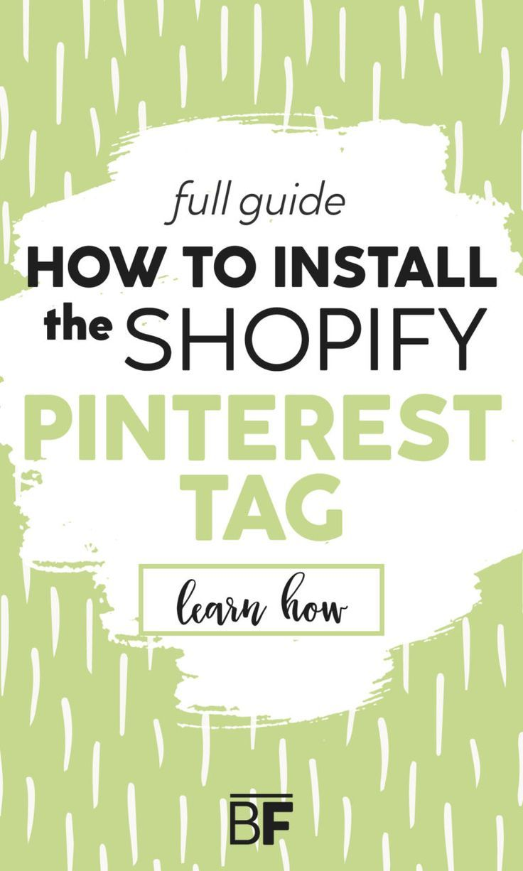 How to Install Pinterest Tag for Shopify - Full Guide.This step by step guide will teach you how to connect your shopify store with pinterest! #shopify #ecommerce #pinteresttips #pinterest