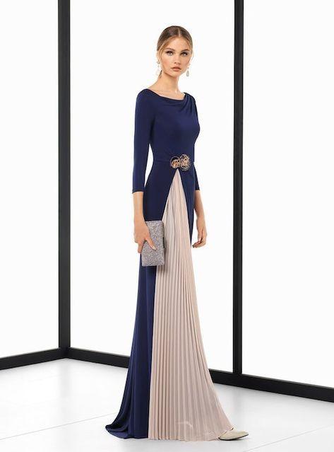 22a6b8799 Vestido madrina de boda azul 2018