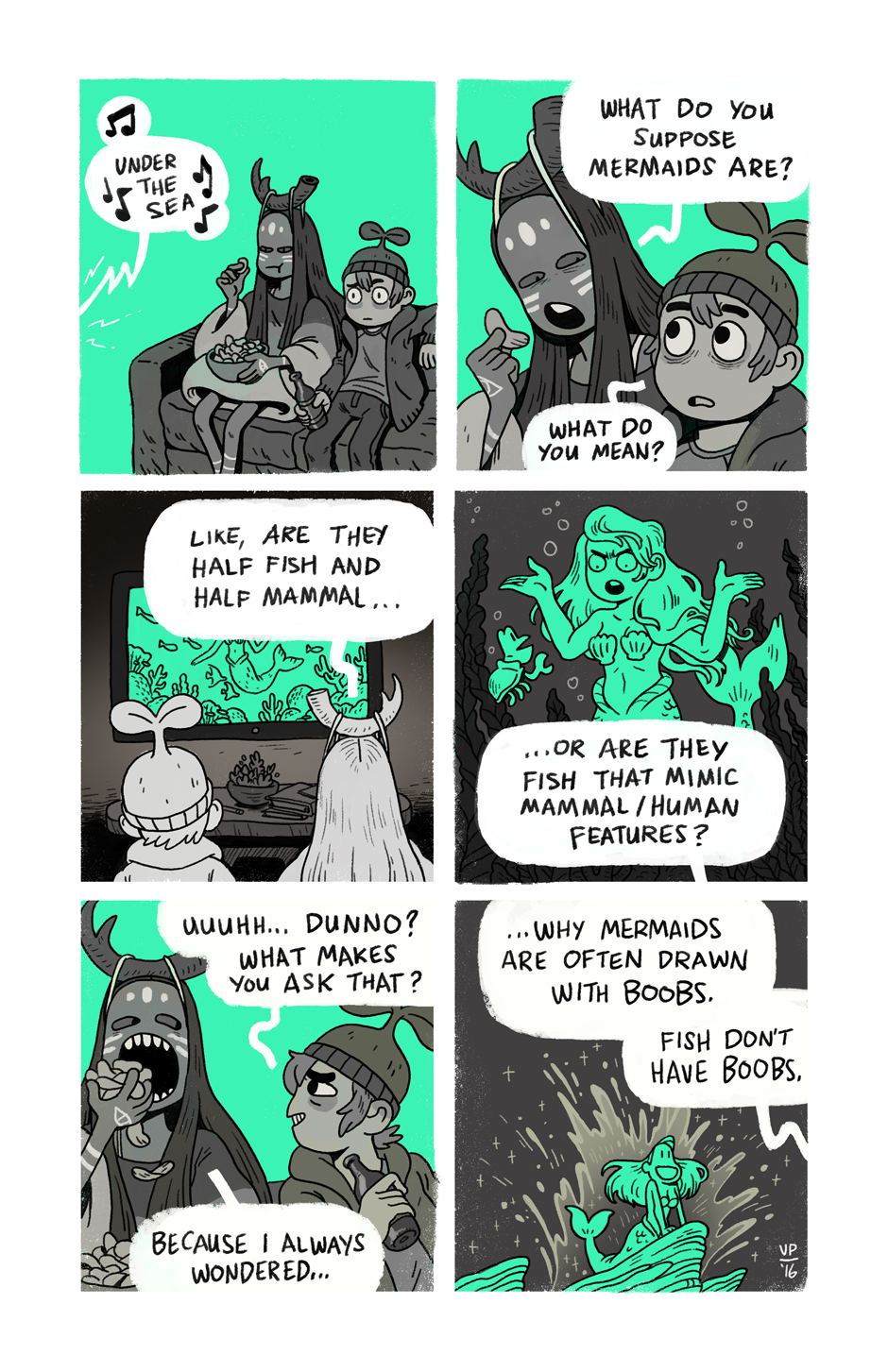 Sprouts What S A Mermaid Tapas Mermaid Comics Comic Page