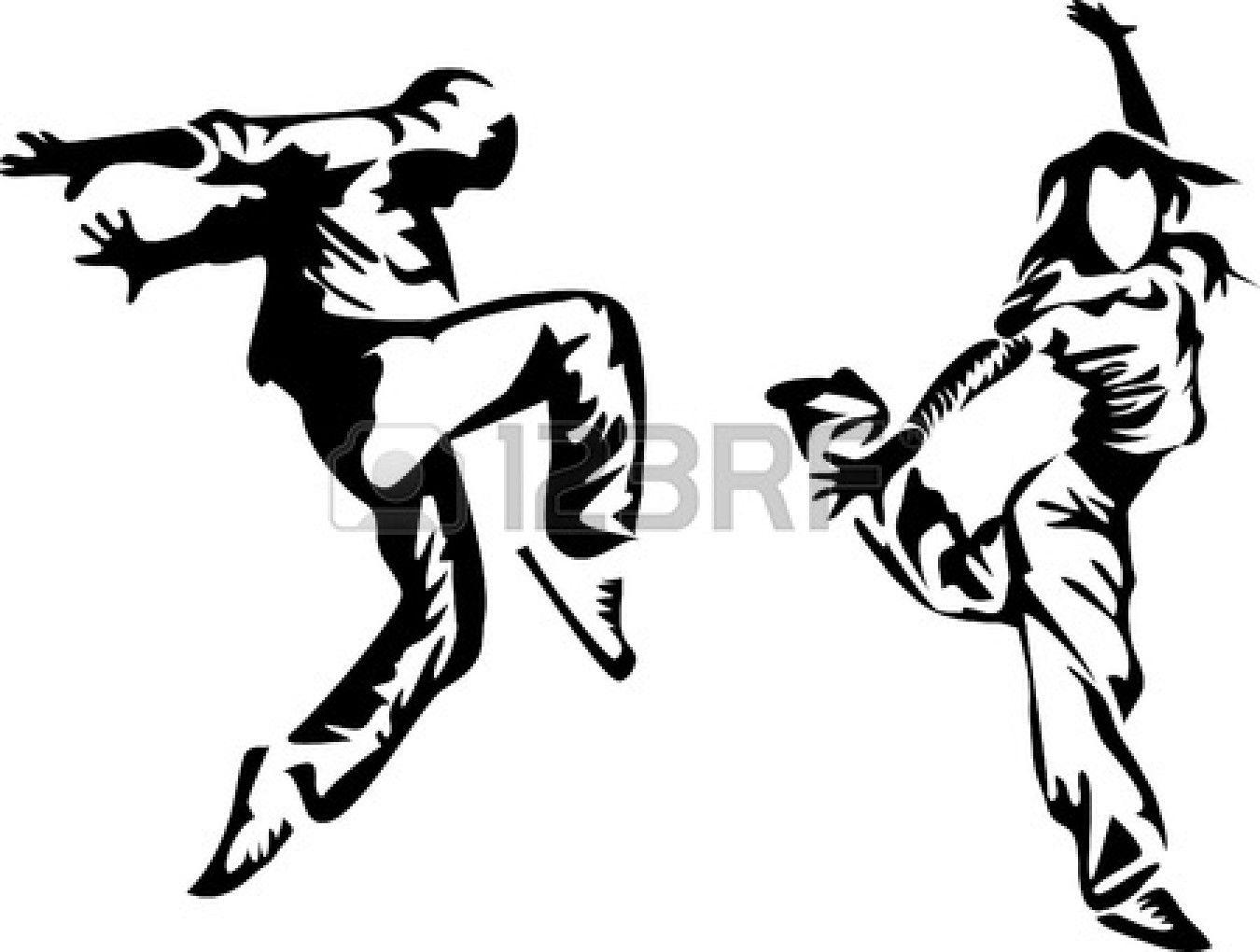Like The Black On White Sketch Dance Logo Hip Hop Dancer Hip Hop Dance