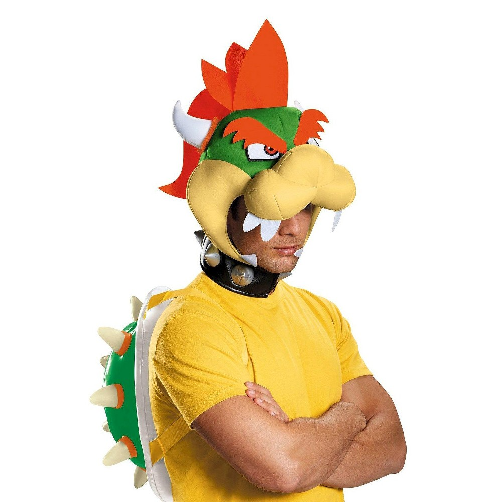 Super Mario Bros Adult Bowser Costume - One Size Fits Most, Green