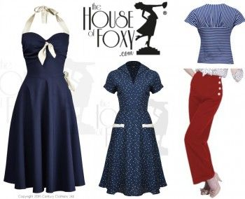 Vintage Sailor Clothes Nautical Theme Clothing Vintage Inspired Fashion 1950s Fashion Dresses Vintage Style Outfits