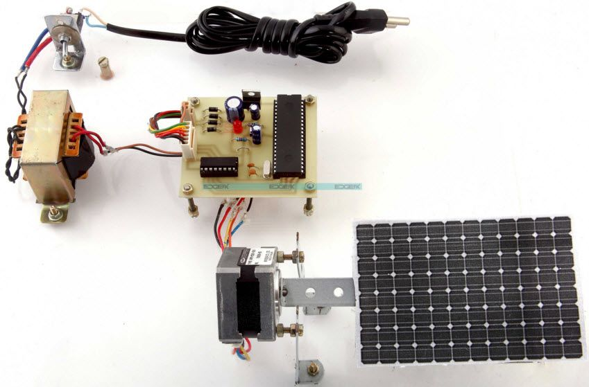 TimeProgrammedSunTrackingSolarPanel uses a solar panel which is ...