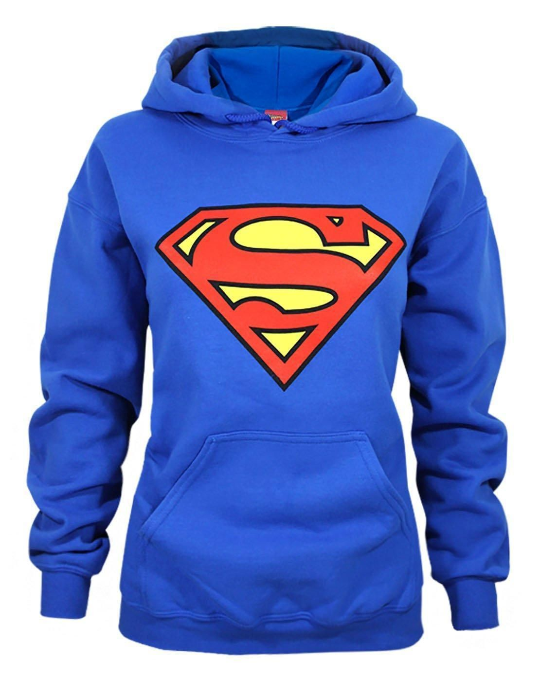 new arrival e94d4 bba4b Official Superman Shield Logo Womens Hoodie Logo Hoodies, Sports Hoodies,  Sports Tops, Superman