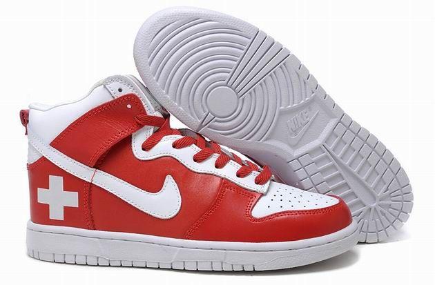 best website 8461d 73966 Nike Dunk High Red Cross Red White 96.99