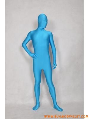 Sky Blue Sexy One Piece Morphsuits Zentai Suits