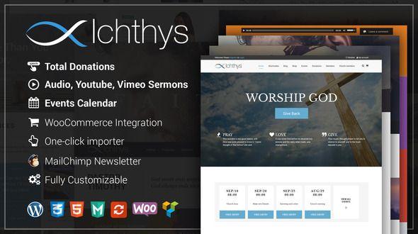 Ichthys - Church WordPress Theme Website and Template