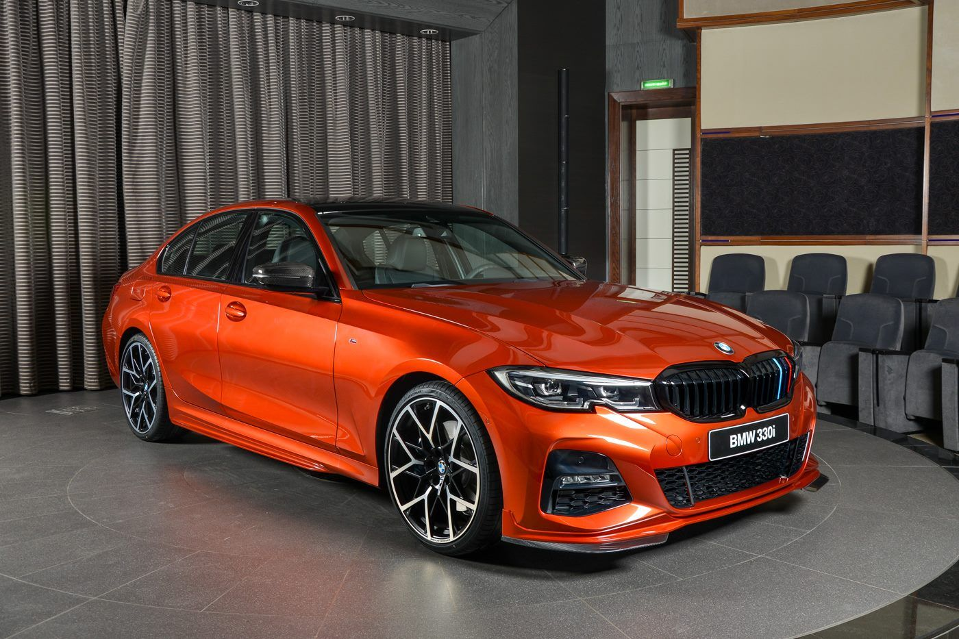 New Bmw 330i M Sport Rocks Sunset Orange Exterior With M Performance Upgrades Carscoops Bmw New Bmw Bmw 3 Series