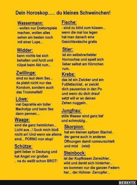 Horoskop Witzig