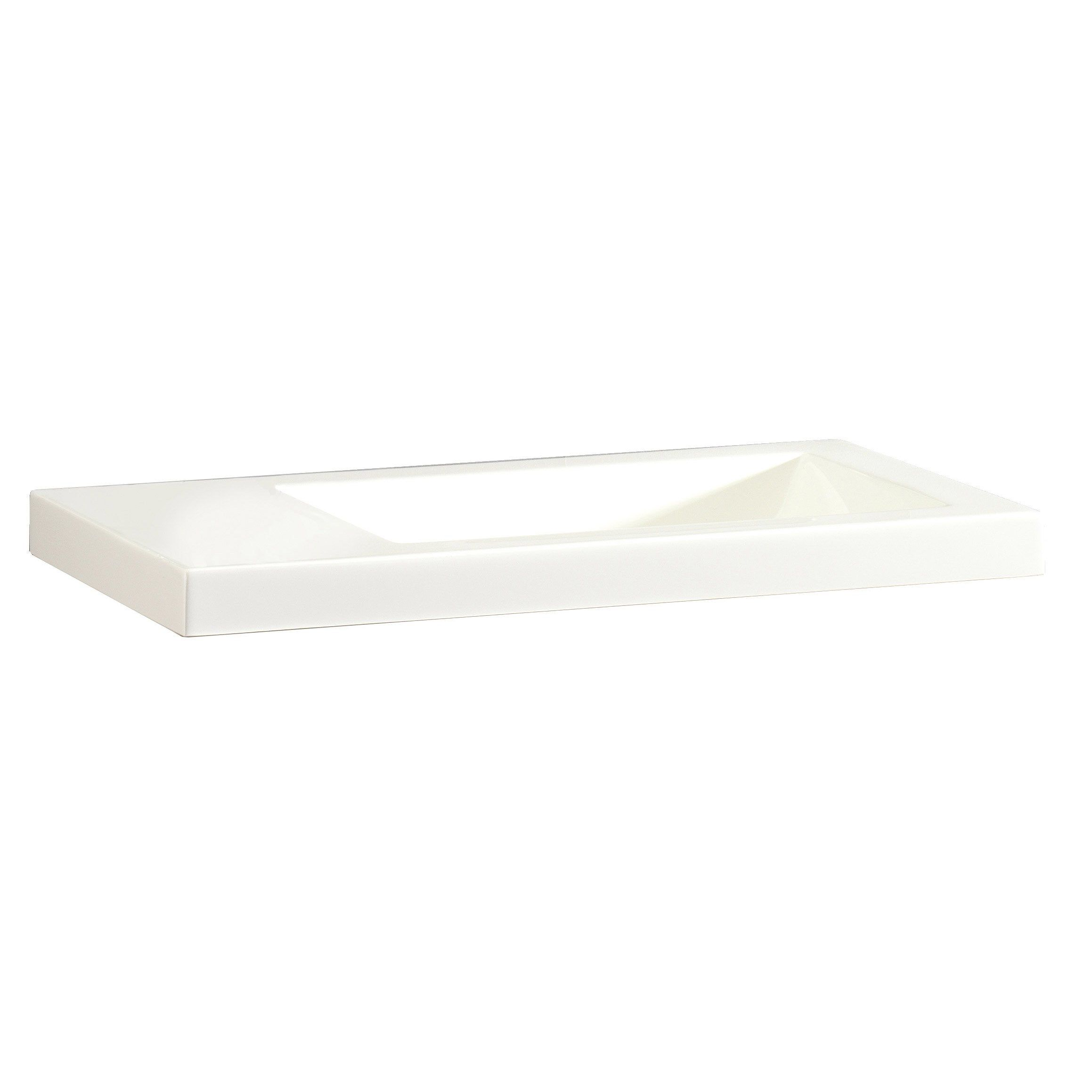 Lave Mains Resine Rectangle Blanc L 43 X P 23 Cm Nerea Lave Main Lave Et X 23