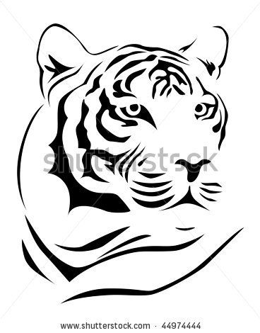 Simple Tiger Google Search Tiger Face Tiger Tattoo Images Tiger Drawing