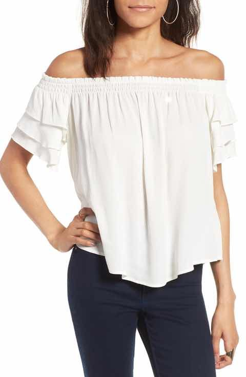 ASTR the Label Tiered Off the Shoulder Top