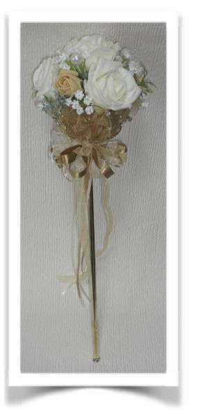 Gold Diamante Lotus Flower Bridesmaid Sceptre Floral Wands By