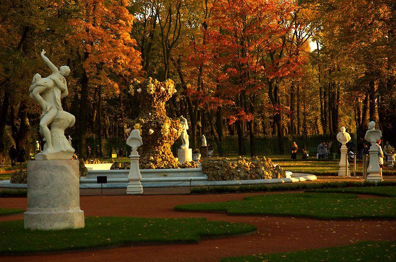 летний сад осень фото этом