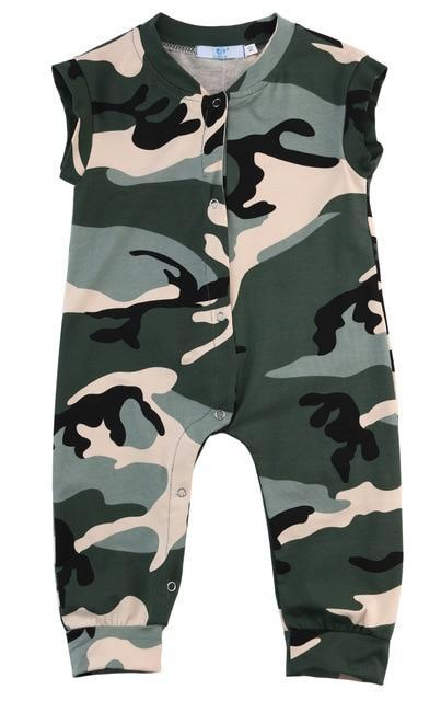 Newborn Infant Baby Boy Kids Camouflage Jumpsuit Romper Summer Outfits Playsuit