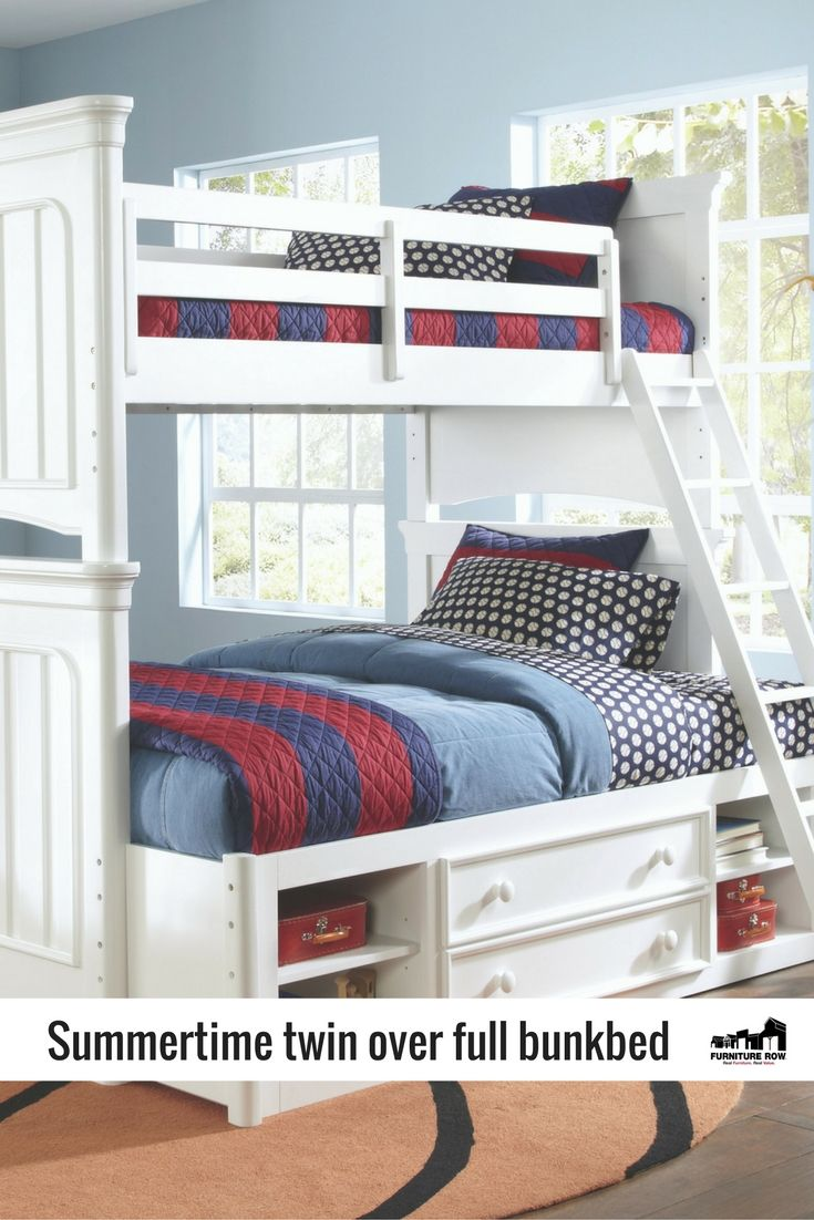 Summertime bunk bed doubles up on bright white for light and breezey ...