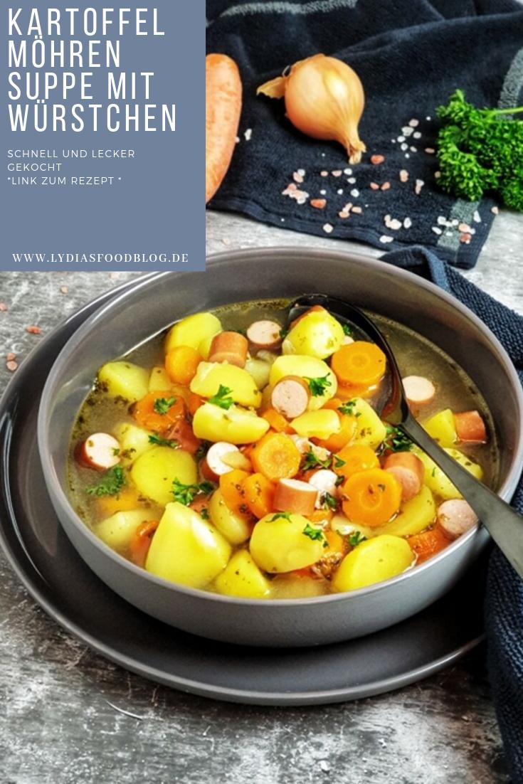 Photo of Kartoffel Möhren Suppe mit Würstchen