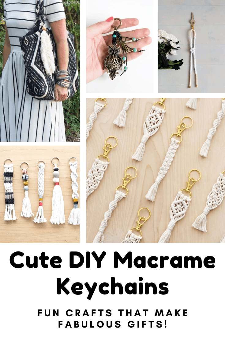 These Easy Macrame Keychain Patterns are a Blast from the Past