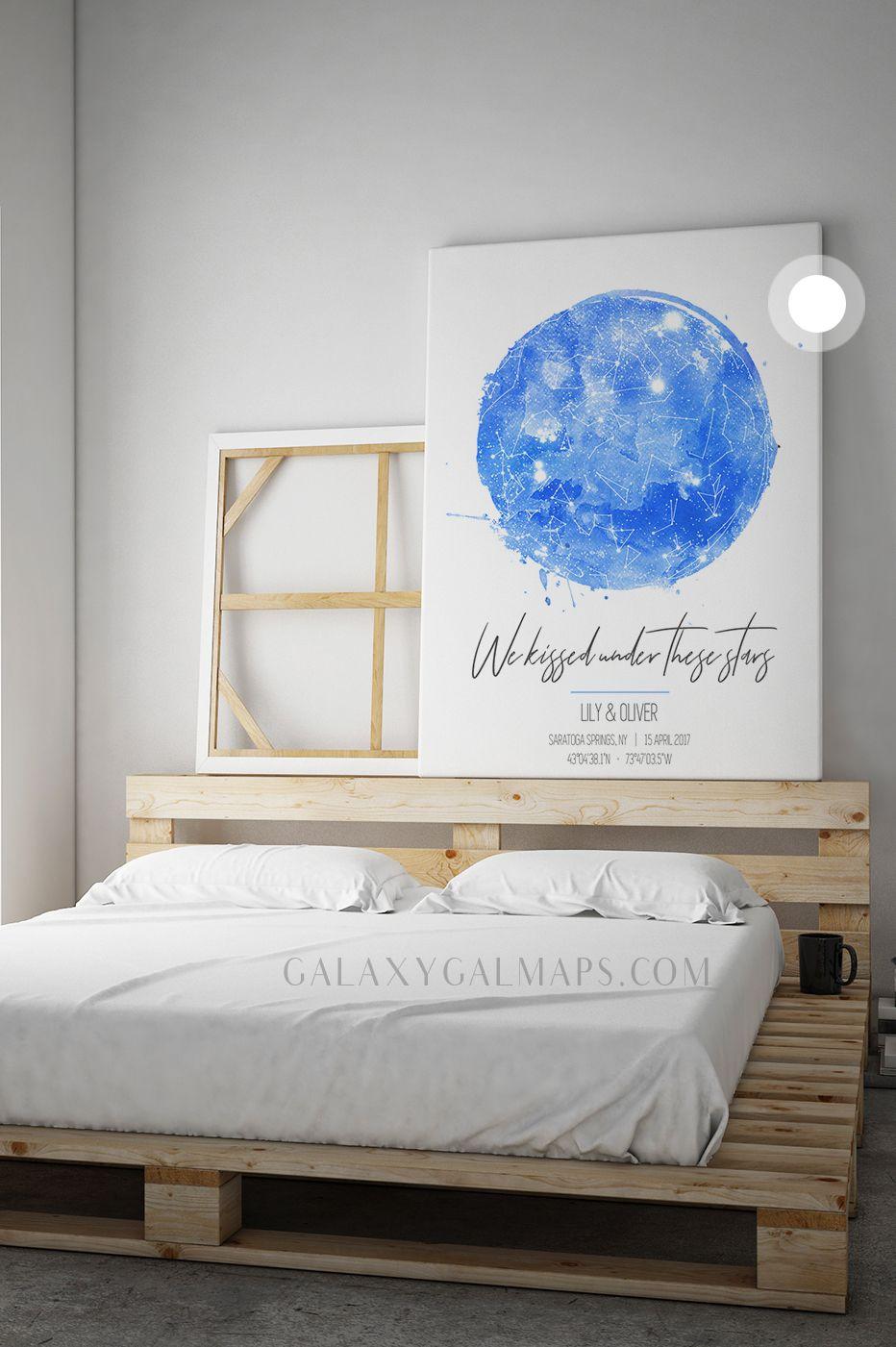Custom star map constellation print wall art art poster