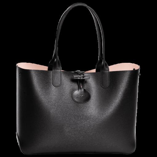 Tote bag - ROSEAU RÉVERSIBLE - Handbags - Longchamp - Black/Girl ...