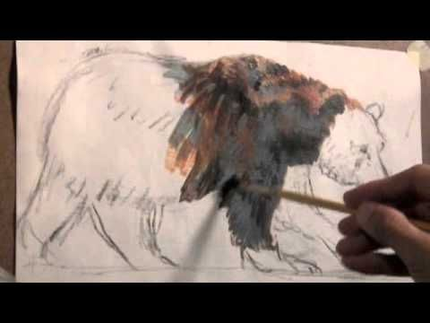 How To Paint Fur Grizzly Bear Demonstration Tutorial Youtube