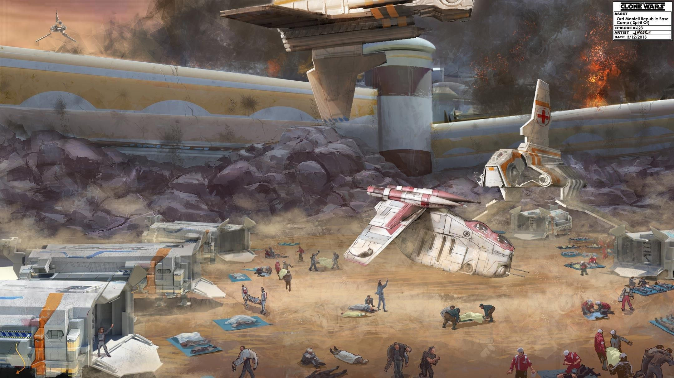 Photo of Concept art from the unreleased episodes of Star Wars The Cl…