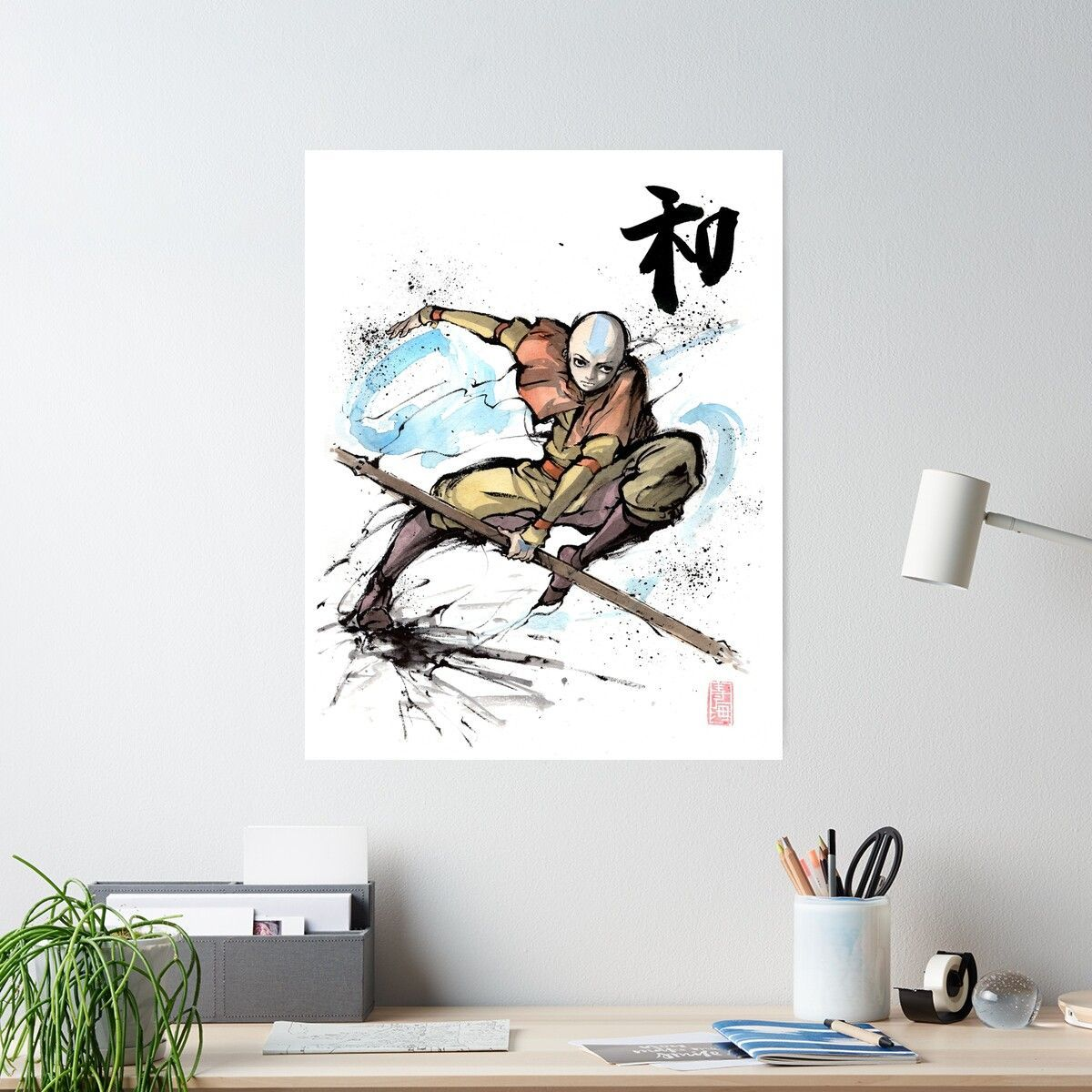 Aang from avatar tv series poster in 2020 aang poster