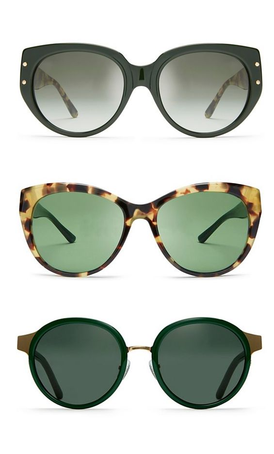 7d52435007f3 Tory Burch Sunglasses | Green #ToryBurchInColor | Sunglasses women ...