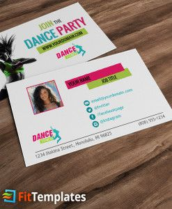 Zumba or dance fitness business card template from fittemplates zumba or dance fitness business card template from fittemplates reheart Image collections