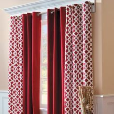 @Overstock   These Attractive Red And Black Curtain Panels Are The Perfect  Way To Dress Up Any Window. The Soft Faux Silk Feels And Looks Great On U2026