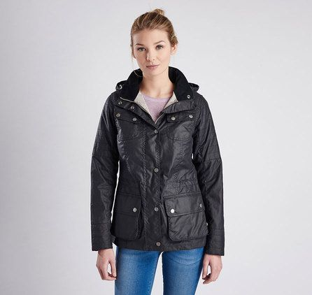 Barbour International Fandor ladies waxed jacket