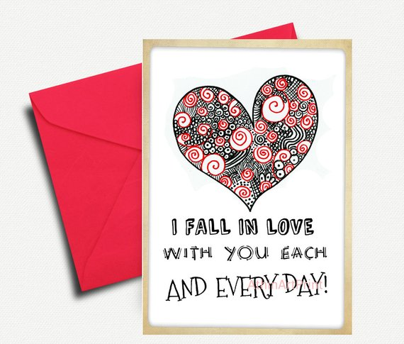 Anniversary Love Card Printable Card Love Greeting Cards Love