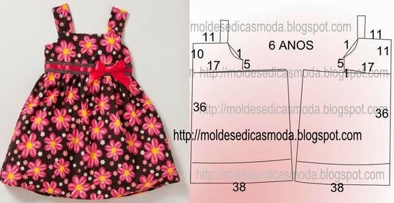 633f929cb Moldes para hacer vestidos para niñas de 1 a 3 años03 | sofi-sara ...
