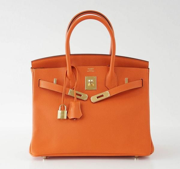 Hermes Birkin 30 Bag Orange FEU Gold Hardware Epsom | Hermes