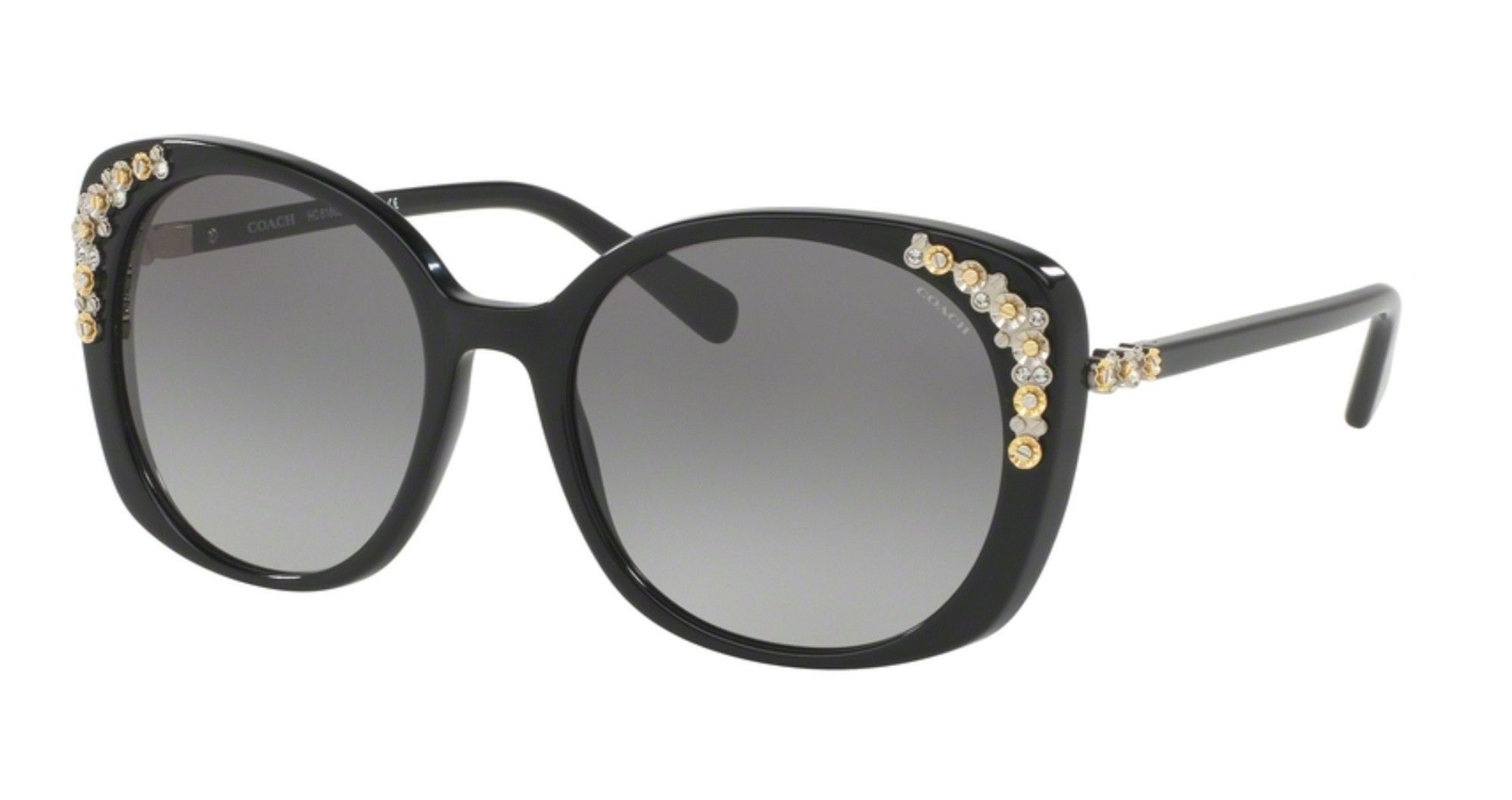 57733649b0 Coach HC8186B-500211 Black Cat Eye Sunglasses