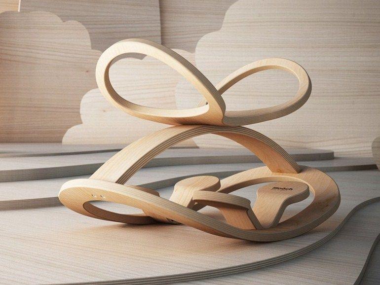 Cavallo A Dondolo Design.Cavallo A Dondolo In Betulla Obo By Lllooch Design Leonid Lozbenko