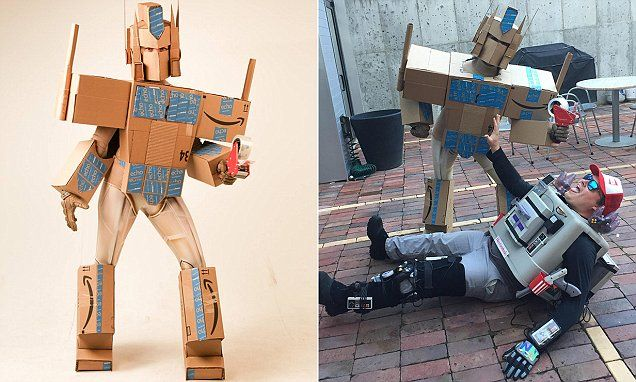 woman impresses with amazon prime halloween costume