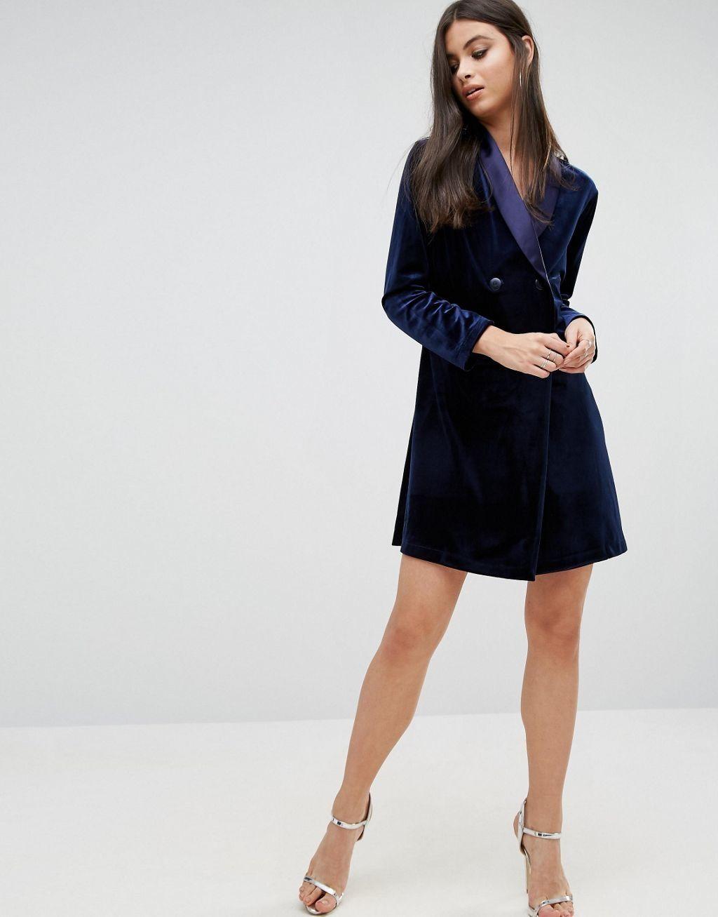 56324f53f5 ... Midi  finest selection 4f683 85063 John Zack Petite Allover Velvet Mini  Tuxedo Dress ...