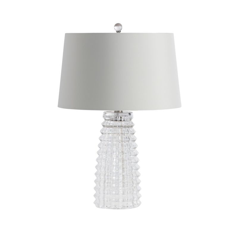 Arteriors 17523 209 baxter single light 21 tall table lamp with white grey shad