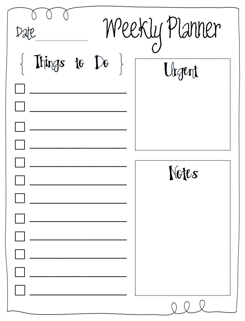 to do list.pdf   printables   weekly planner, printable planner