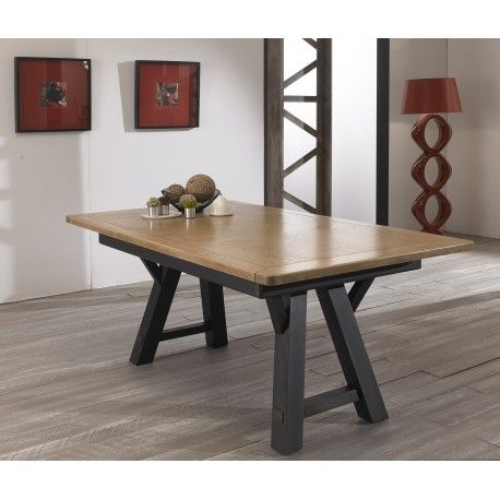 Table Rectangulaire Pieds Treteaux Alize Girardeau Metal Art