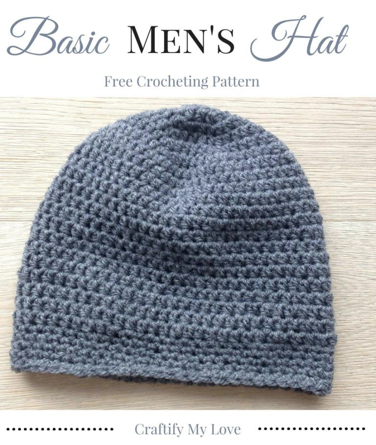 86e55b8d57f Enjoy this free and easy crocheting pattern for a Basic Men s Hat
