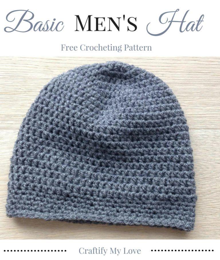 Basic Men S Hat Free Crocheting Pattern Easy Crochet Hat Patterns Mens Beanie Crochet Pattern Crochet Hats Free Pattern