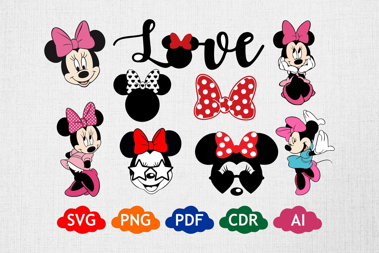 Disney SVG, Minnie Mouse, Minnie Bundle, Minnie Mouse