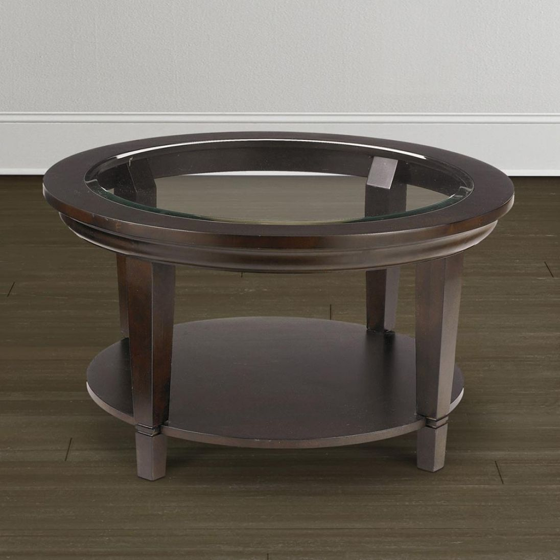 Round Gl Top Coffee Table With Wood Base Best Paint For Interior Check More At