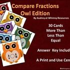 Colorful Center Activity!   30 Colorful Owl Cards   Laminate for students to write on or use the included recording sheet.   Answer key and directi...