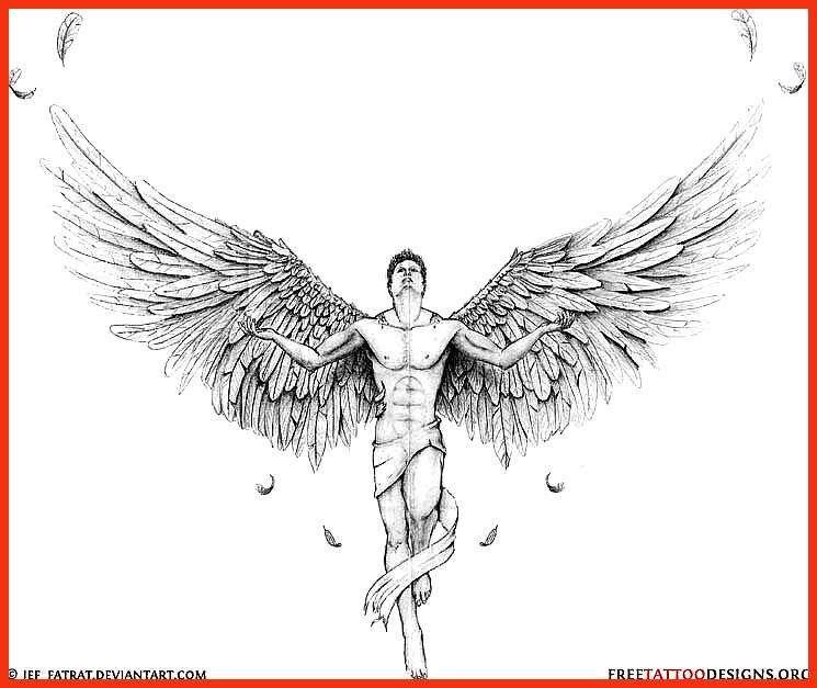 Vorlagen engel tattoos 44 Elegant