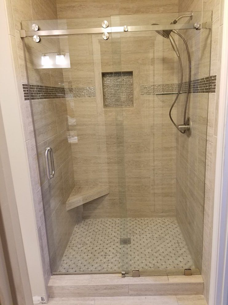 Corner Shower Stall Built In Shower Shelf Corner Seat Custom Glass