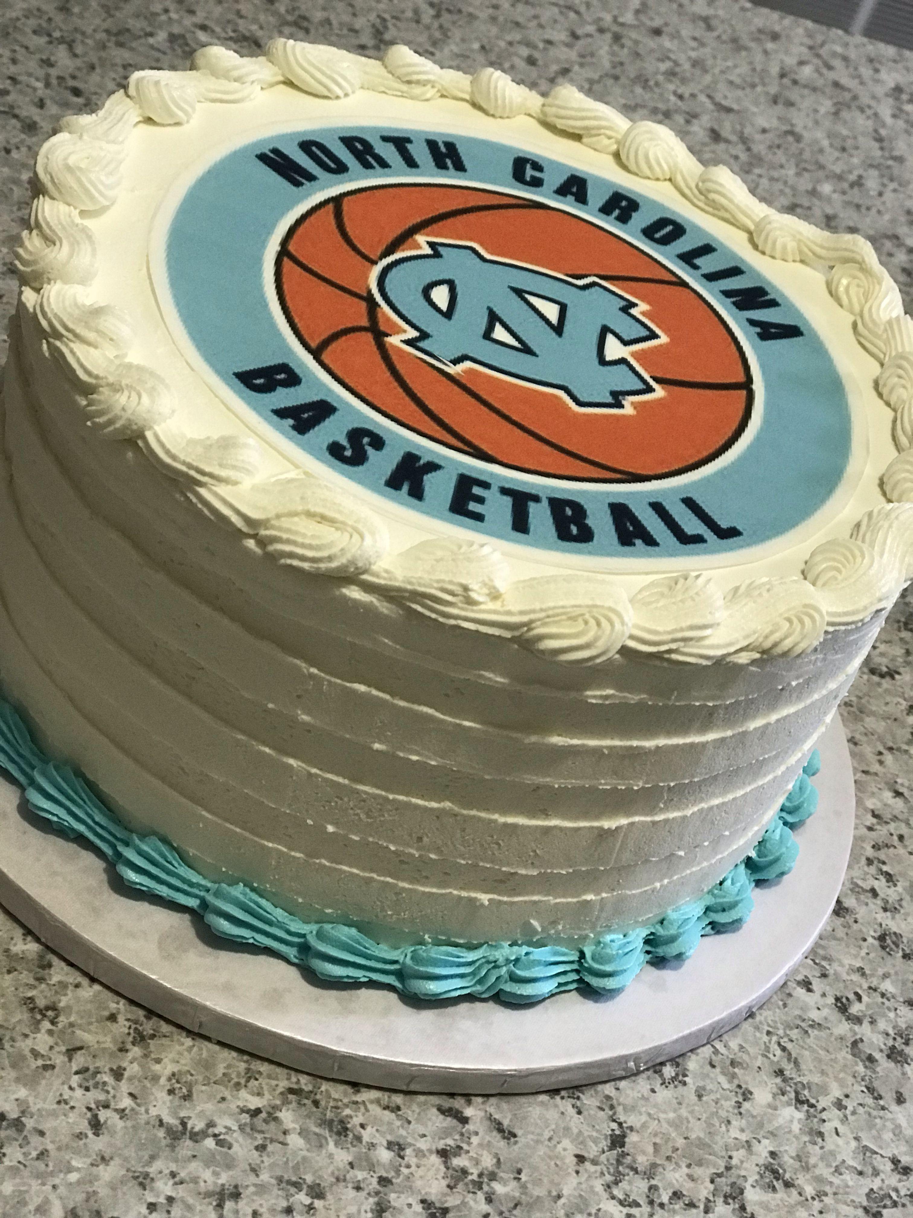 UNC Tarheel cake Buttercream frosting, Edible images
