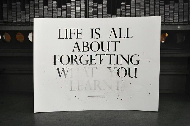 All about forgetting...